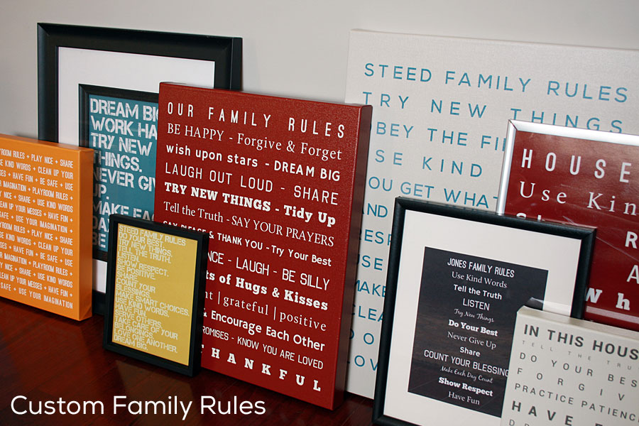 Custom Family Rules Art - Canvas, Posters, Prints - SignsByAndrea.com
