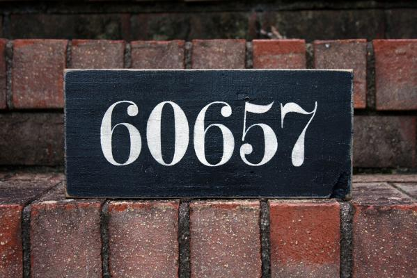 Zip Code Sign - Black
