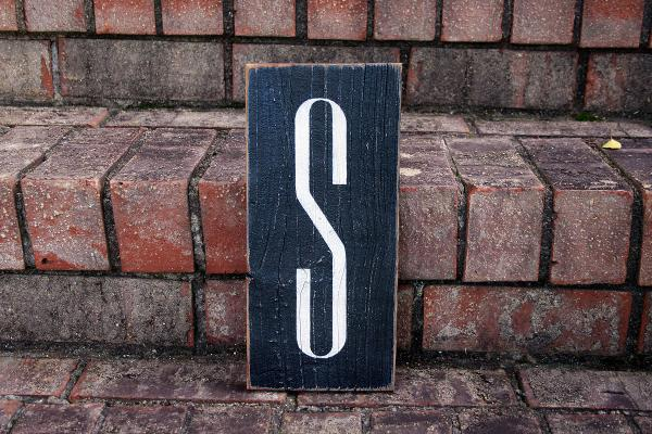 1ft Monogram Initial Sign
