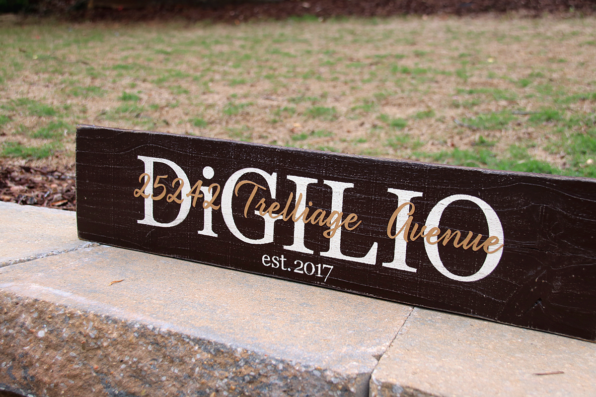 Family Name With Established Date Painted Wood Sign 2ft