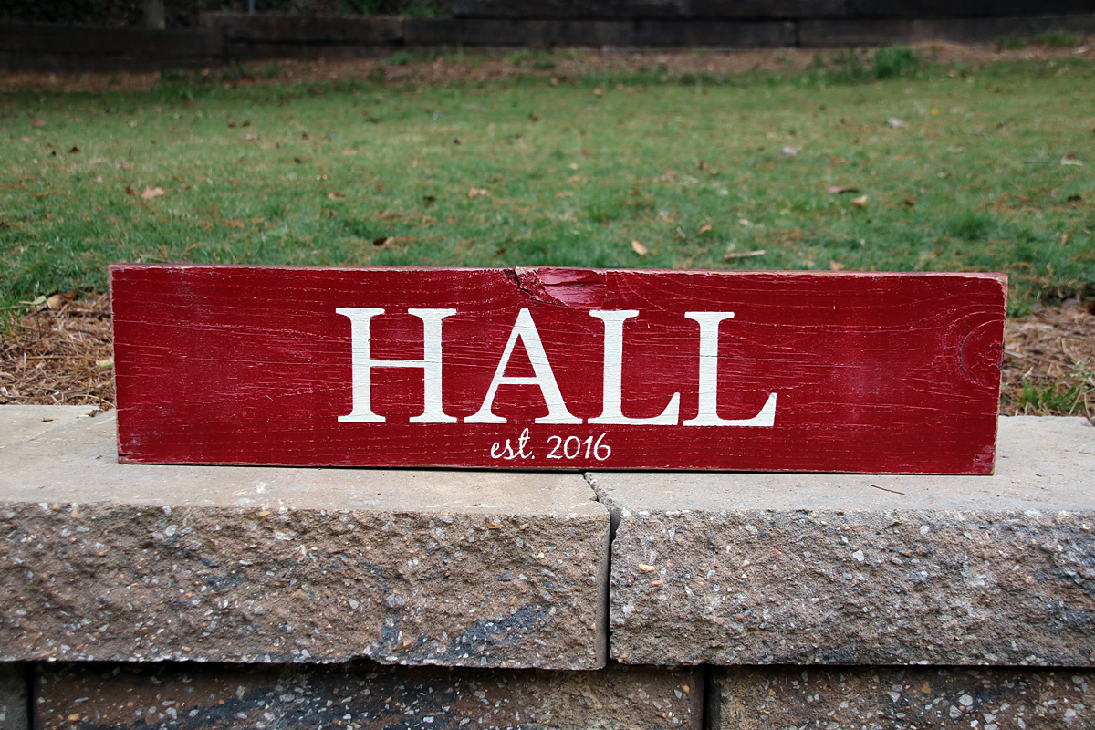 Family Name with Established Date Painted Wood Sign (2ft ...