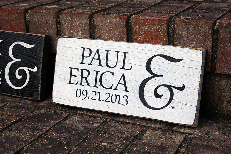 First names with wedding date painted wood sign signs by andrea wedding sign painted wedding sign wedding sign wedding sign junglespirit Choice Image