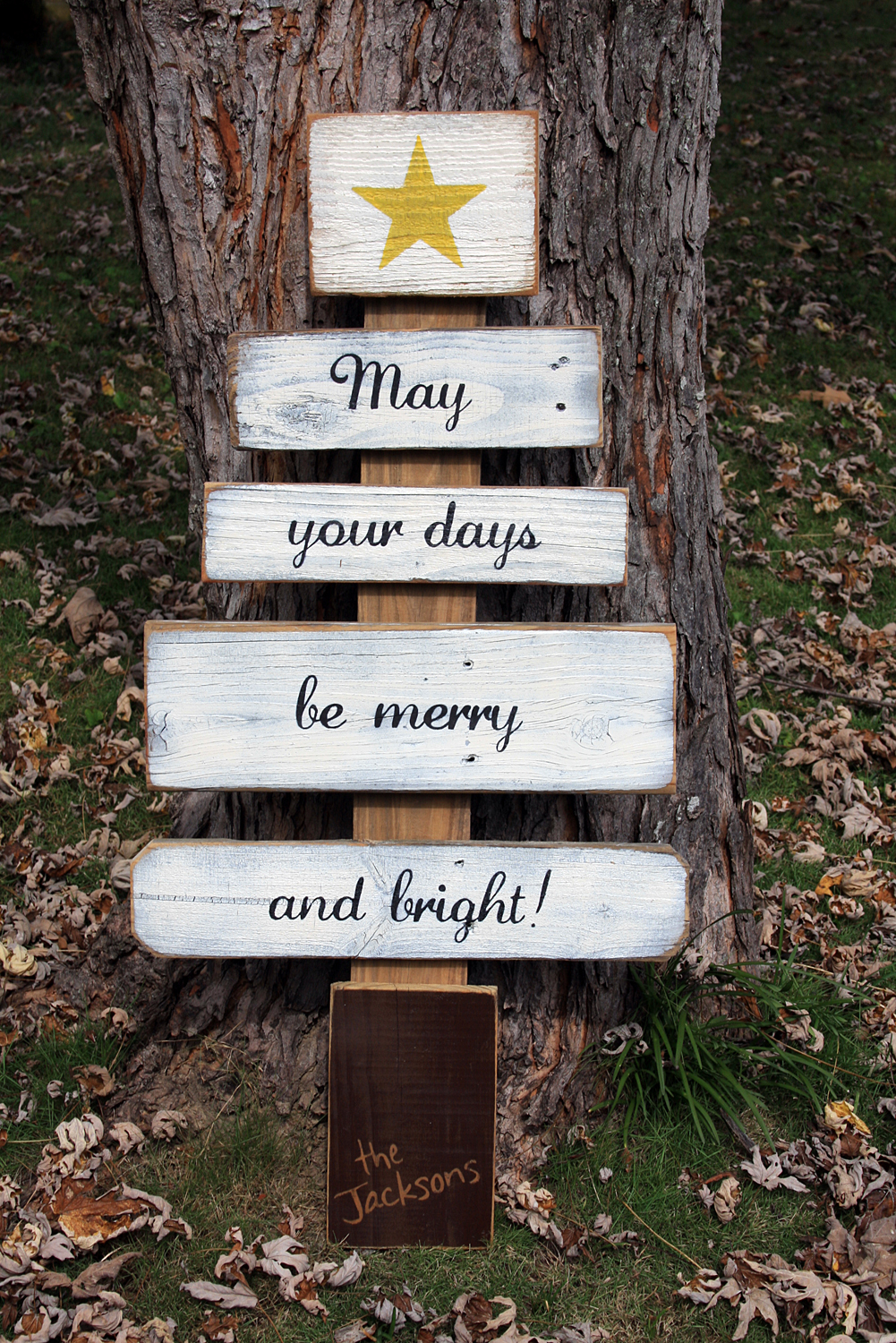 Christmas Wishes Tree Signs By Andrea
