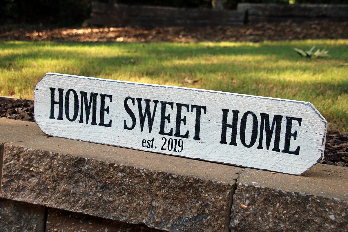 Personalized Home Sweet Home Sign | Signs by Andrea