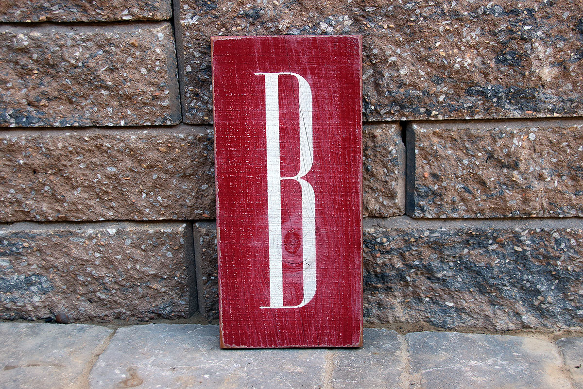 Monogram Painted Wood Sign Signs By Andrea