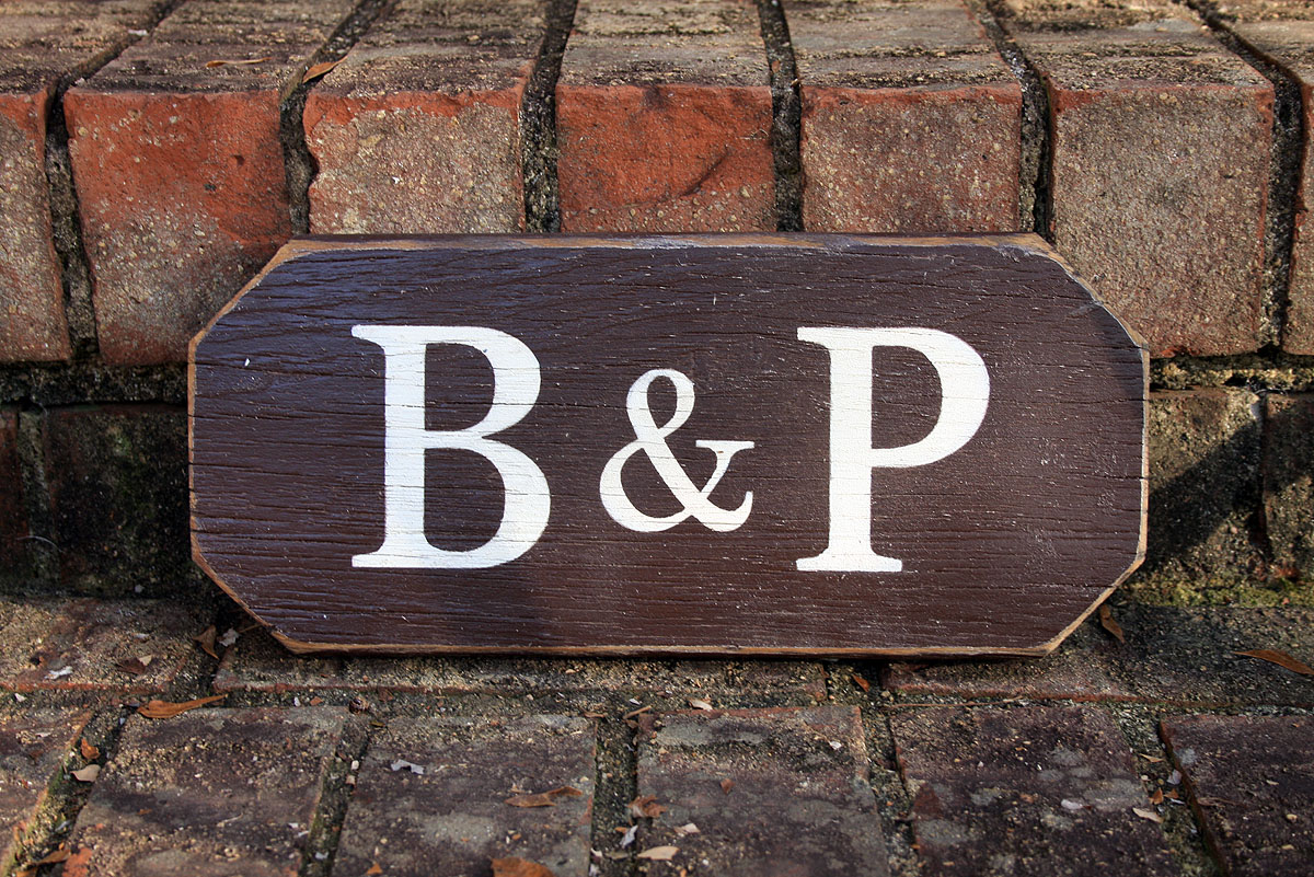 Two Initials Painted Wood Sign A Amp B Signs By Andrea