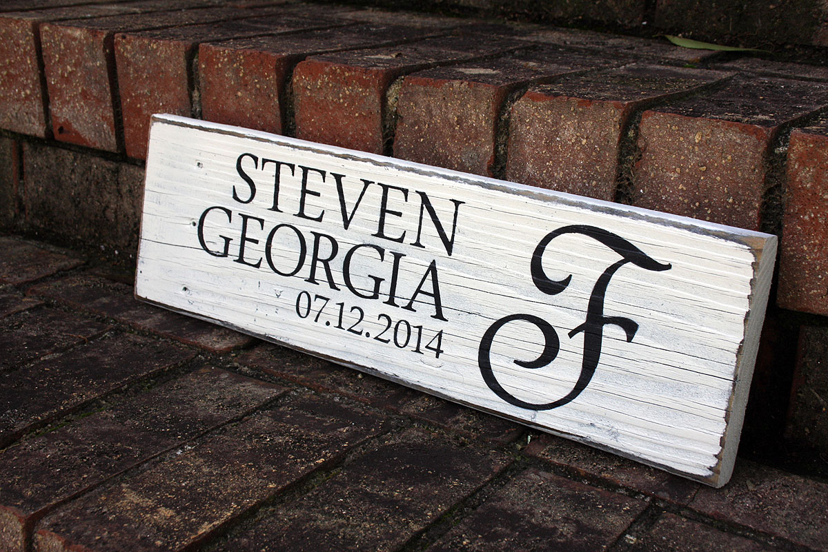 First names with wedding date painted wood sign signs by andrea wedding sign painted wedding sign junglespirit