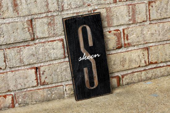 1ft Monogram with Name Overlay Sign