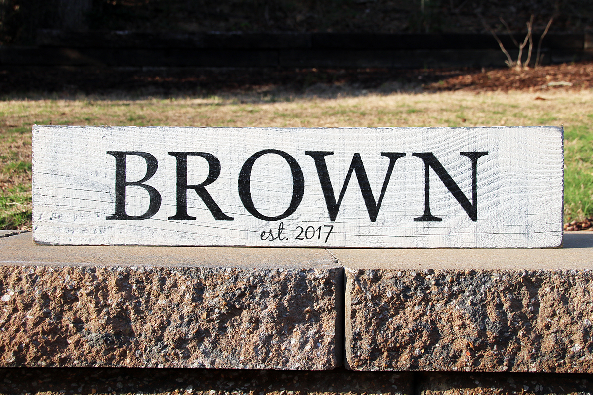 Last Name Personalized Sign