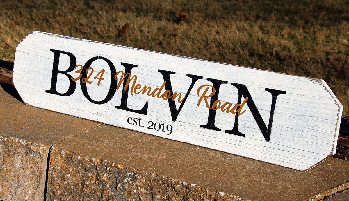 2ft Last Name Sign Housewarming Gift