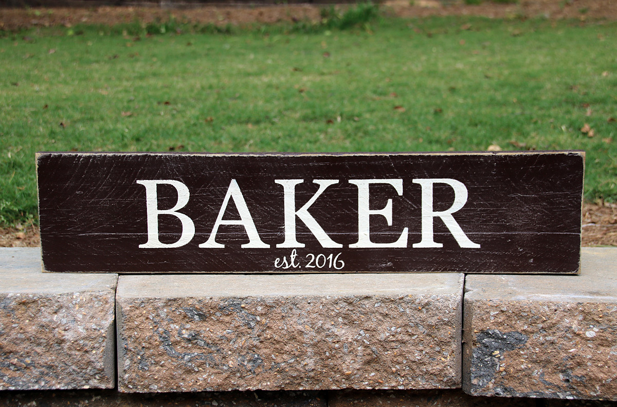 Family Name Wood Sign Closing Gift