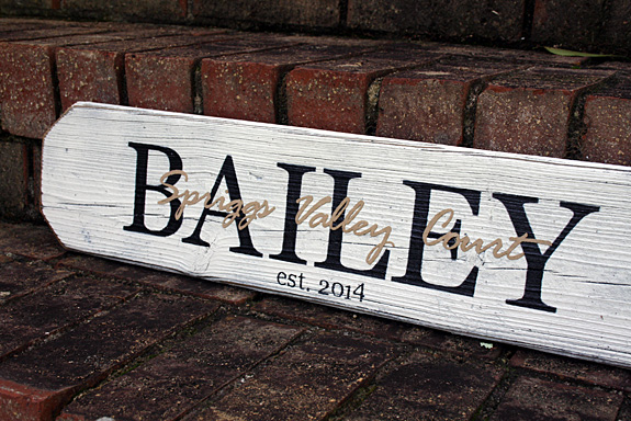 2ft Last Name & Street Name Overlay Sign - Personalized Home Closing Gift