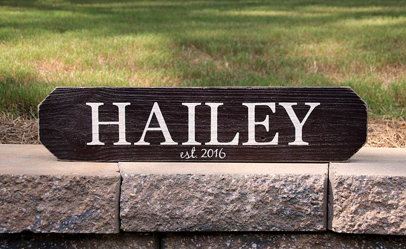 2ft Last Name Sign - Personalized Home Closing Gift
