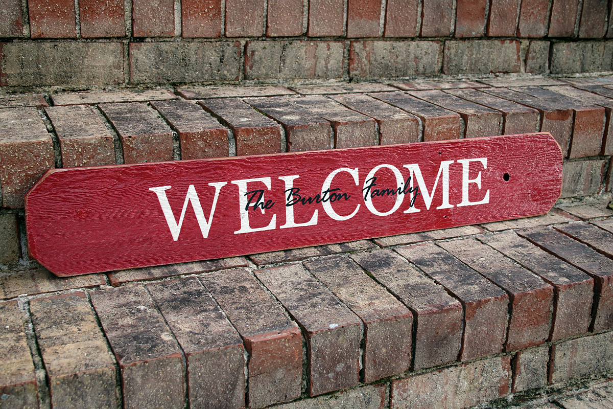 3ft Personalized Welcome Sign