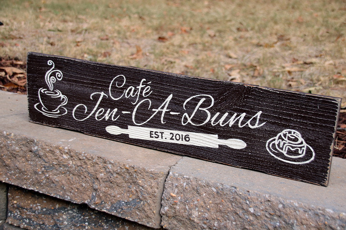 Personalized Custom Painted Kitchen Sign