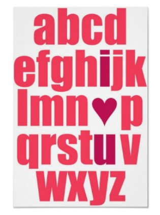 I Love You Alphabet Print