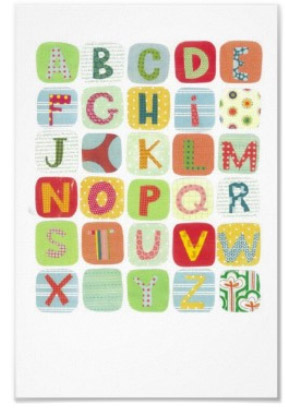 Colorful ABC Canvas