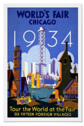 Vintage Words Fair Chicago 1934 Poster