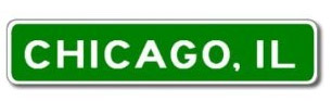 Chicago Illinois City Limit Sign