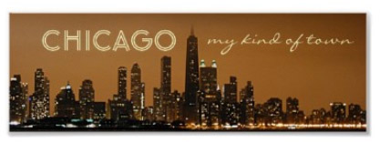 Chicago - My Kind of Town - Panoramic Night Skyline