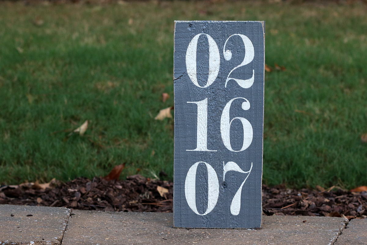 Special Date Painted Wood Sign
