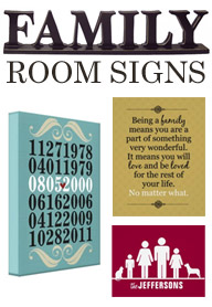 Family Room Artwork Ideas Signs By Andrea