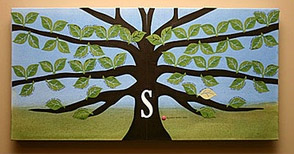 DIY Family Tree Stretched Canvas