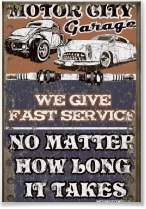 Road Signs Vintage Garage Signs Car Mechanic Art Signs By Andrea