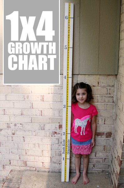 1 x 4 Wood Growth Chart