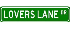 Lover's Lane Sign