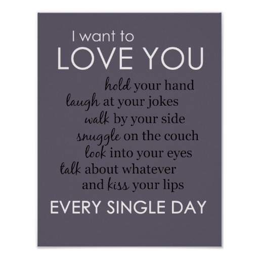 I Love You Everyday Poster Print