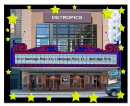Personalized Movie Marquee Poster