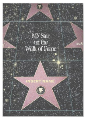 My Star on the Walk of Fame Poster