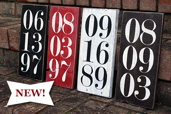 New Special Date Wood Sign Signs By Andrea