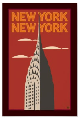 new york city posters and prints signs by andrea. Black Bedroom Furniture Sets. Home Design Ideas