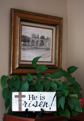 He Is Risen Sign Easter Decor Signs By Andrea
