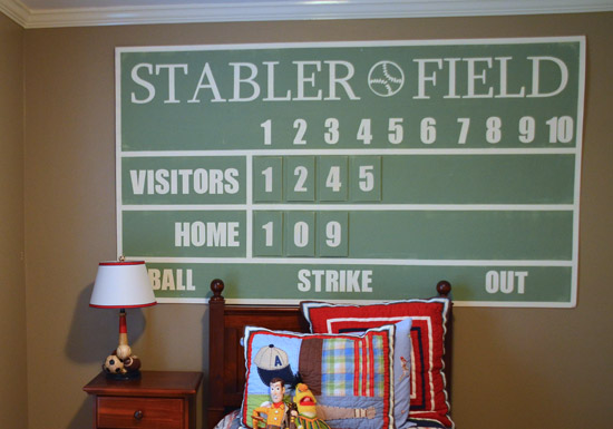 Pottery Barn Kids Baseball Scoreboard Tutorial