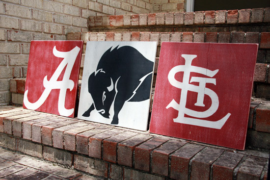 Custom Sports Team Wood Signs