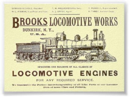 Brooks Locomotive Vintage Poster