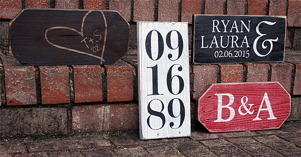 Personalized Valentine Signs