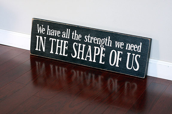 Shape of Us Quote - Valentine Gift
