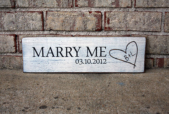 Marry Me Sign - Valentine's Day - Engagement