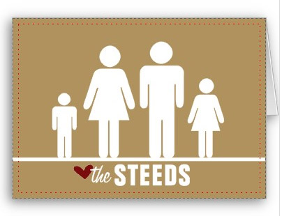 Personalized Family Notecard