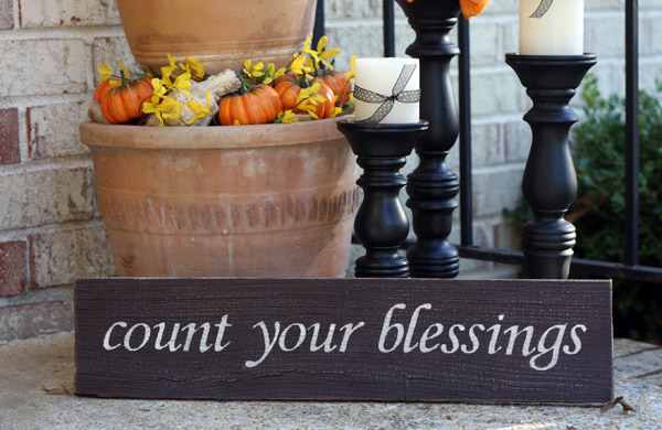Count Your Blessings - 2ft Painted Sign