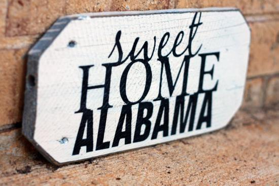 Sweet Home Alabama Painted Wood Sign | Signs by Andrea