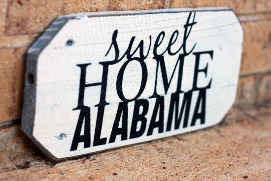sweet home alabama painted wood sign