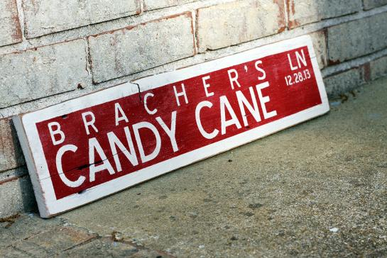 Candy Buffet Sign for a Wedding Reception