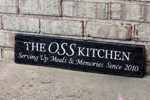 Personalized Kitchen Painted Sign