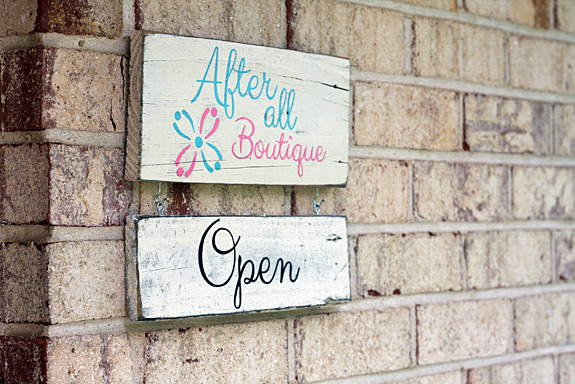 Rustic Boutique Custom Painted Sign