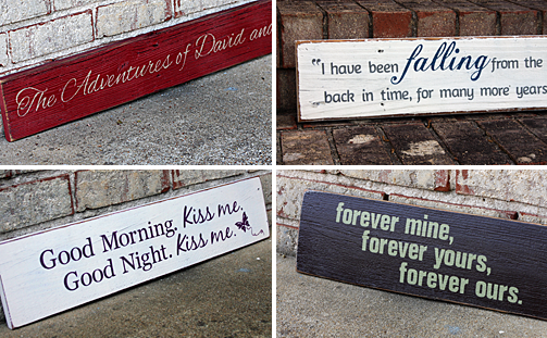 Custom Designed Signs for your Valentine